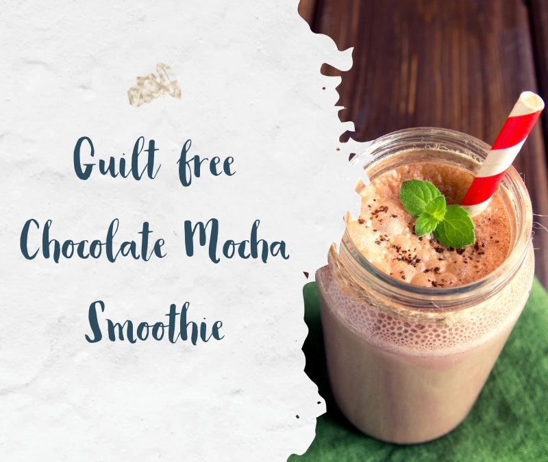 Guilt Free Chocolate Mocha Smoothie